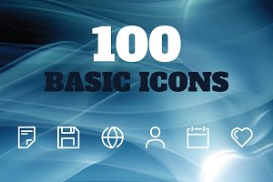 100 BASIC VECTOR ICONS