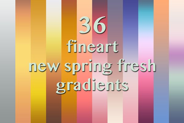 Gradients: Dirk's Texture Pit - 36 Spring Fresh fineart Gradients