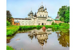 Church of the Resurrection of Christ and Assumption Cathedral at Rostov Kremlin, Yaroslavl oblast, Russia