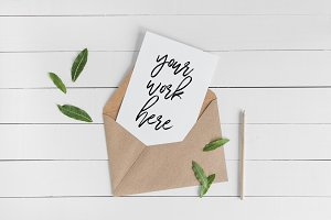 A5 Invitation Card Mockup Envelope