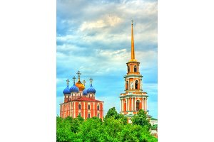 View of Ryazan Kremlin in Russia