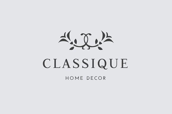 premade minimal floral logo template logo templates creative market