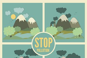 Ecology Concept Vector Icons Set