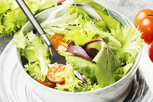 The dietary mixed greens salad