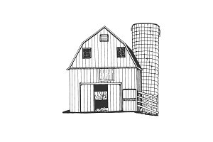 Farm hand drawn. Sketch vector