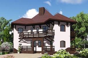 3D visualization. Mansion.