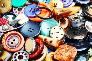 Assorted bright buttons