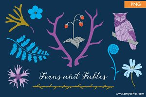 Ferns and Fables: Clip Art