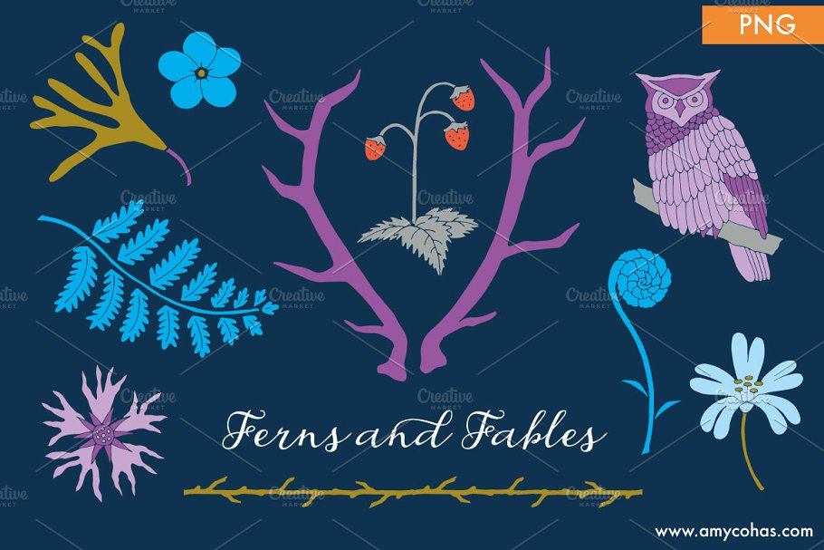 Ferns and Fables: Clip Art in Illustrations - product preview 8