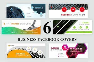 6 Business Facebook Covers