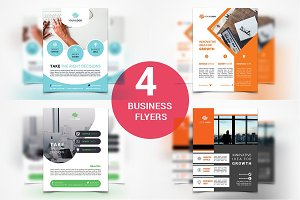Business Flyers - 4 Templates