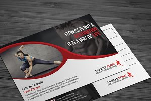 This is a Fitness Post Card Template
