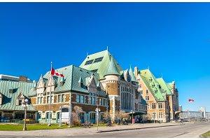 Gare du Palais, the main train station of Quebec City, Canada