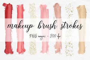 Brush Strokes Clipart - Red Abstract