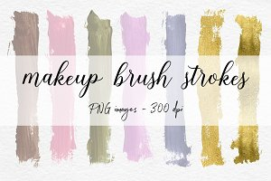 Pastel Brush Strokes Clip Art