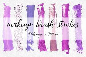 Paint Stroke Brushes - Violet