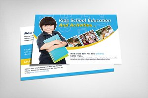 Kids Education Postcard