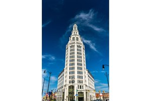 Electric Tower, a historic office building in Buffalo, NY, USA. Built in 1912