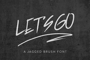 Let's Go Jagged Brush Font
