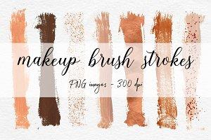 Copper Brush Strokes Clipart