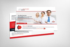 Medical Health Postcard Template