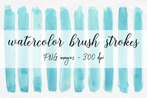 Watercolor Brush Strokes Clipart