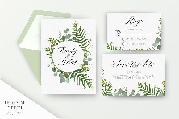 Wedding Collection Tropical Green