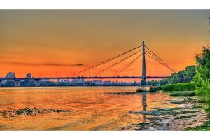 The Moskovskyi Bridge across the Dnieper in Kiev, Ukraine