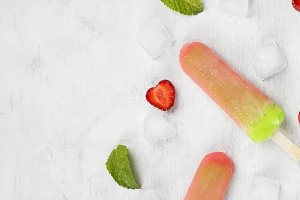 Multicolored popsicles