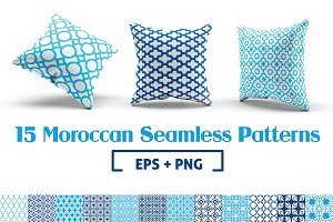 15 Moroccan Seamless Patterns
