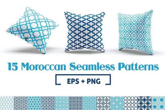 15 Moroccan Seamless Patterns