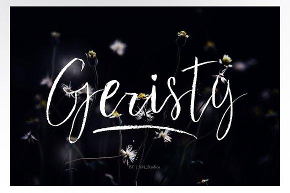 Geristy Brush Font