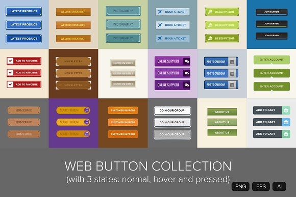 18 Web Button Collection