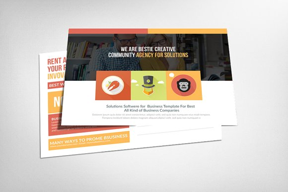 Marketing Business Postcard Template
