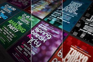 3 Party Flyers Templates Bundle