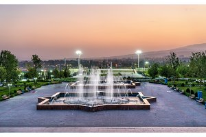Park in the city centre of Dushanbe, the Capital of Tajikistan