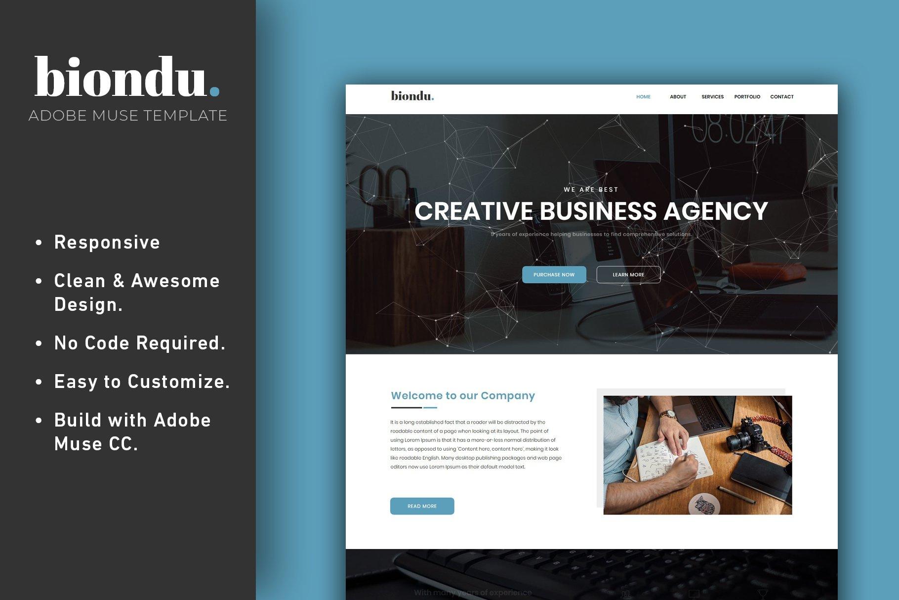 Adobe Muse Responsive Theme Themes Creative Market