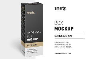 Box mockup / 50x135x35 mm