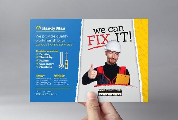 handyman flyer template flyer templates creative market