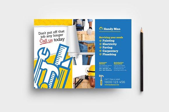 handyman flyer template v2 flyer templates creative market