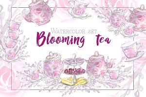 Blooming Tea - watercolor set