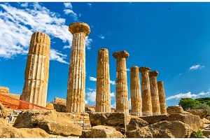 Temple of Heracles at the Valley of the Temples in Agrigento, Sicily