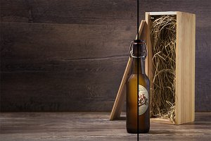Craft beer bottle mock-up