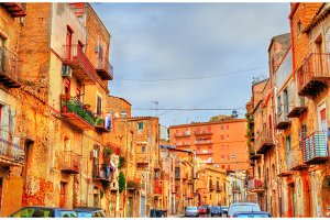 Traditional buildings in Agrigento, Sicily, Italy