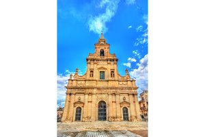 The Cathedral of Santa Maria delle Stelle in Comiso - Sicily, Italy