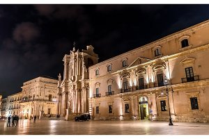 Archbishop's Palace and Syracuse Cathedral in Syracuse - Sicily, Italy