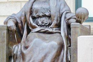 Statue, Boston Public Library