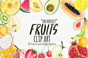 watercolor fruits clipart