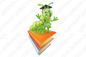 Books and Bookworm Worm