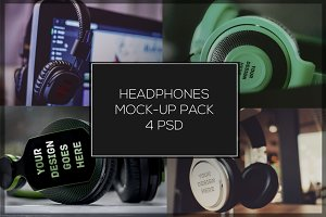 Headphones Mock-up Pack#1